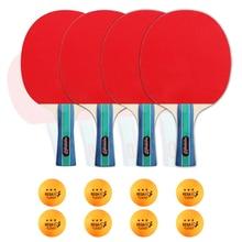 Bat-Set Table-Tennis-Ball Paddles Three-Star balls Ping-Pong And with 8pcs Quality