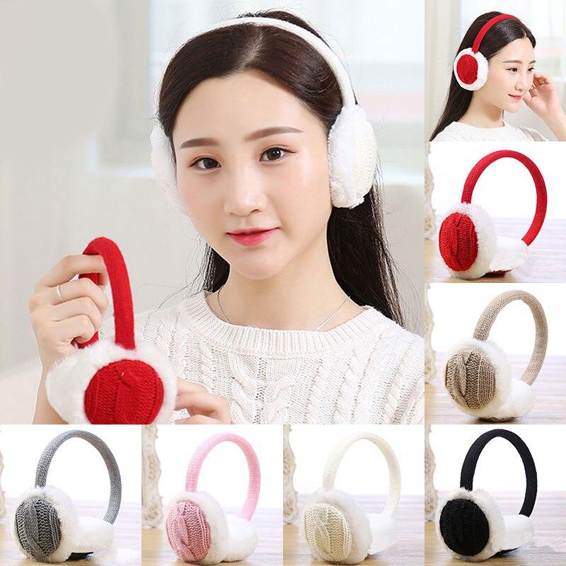 Fashion Women Winter Warm Knitted Round Earmuffs Girls Sweet Headband Earwarmers Ear Muffs Earlap Warmer Gift Accessories