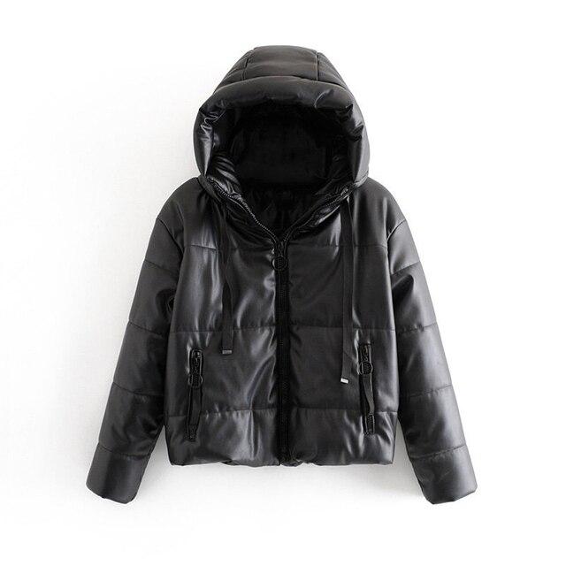 Wixra-veste Parka imperméable à capuche pour femme, nouvelle mode, manteau noir massif et chaud 6