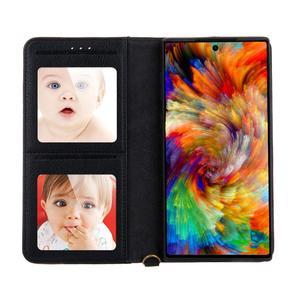 Image 5 - Carteira caso flip capa para samsung galaxy s20 ultra s8 s9 + s10 5g nota 8 9 10 mais foto slot para cartão magnético caso de couro funda