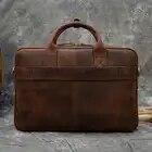MAHEU мужской портфель, натуральная кожа, сумка для ноутбука, 15,6 дюймов, PC, сумка для компьютера, сумка для компьютера, Воловья кожа, мужской портфель, коровья кожа, мужская сумка - 2