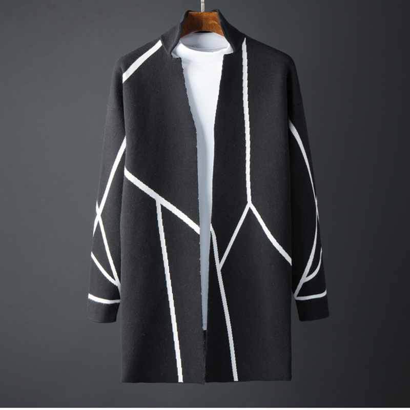 Fashion Mens Cardigans New Stylish Fashion Jacket Slim Long Sleeve Knit Coat High Quality Autumn Men'S Cardigan Tops KK2991