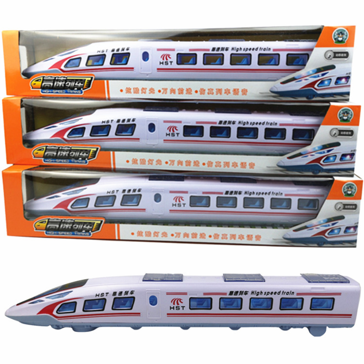 Children Electric Universal Wheel Harmony Locomotive Toy With Light And Music Model High Speed Rail EMU Train Model