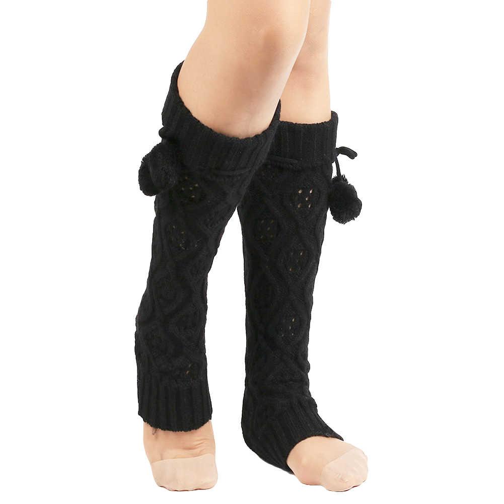 Hot Fashion Beenwarmers Vrouwen Warm Knie Hoge Winter Knit Solid Haak Been Warmer Sokken Warm Boot Manchetten Beenwarmers Lange sokken