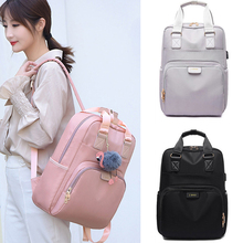 Waterproof Laptop Backpack Female Fashion Girl 13 14 15 15.6 inch USB Charger Back pack Women men Oxford cloth Black