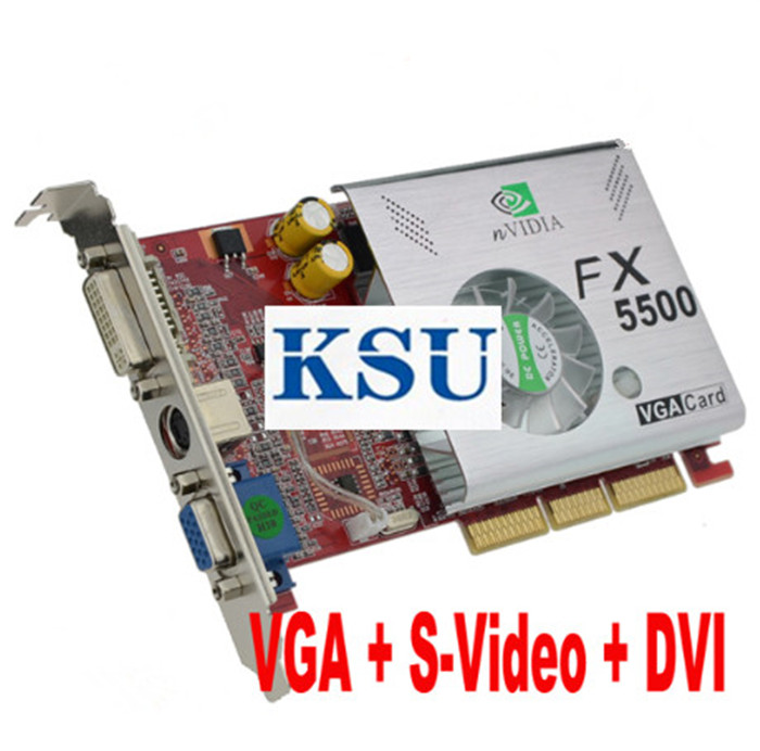 Graphic-Card Video Nvidia FX5500 For Geforce Fx5500/Agp/256mb/..