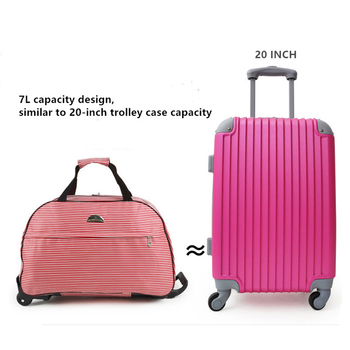 JULY'S SONG Luggage Bag Travel Duffle Trolley bag Rolling Suitcase Trolley Women Men Travel Bags  With Wheel Carry-On bag 4