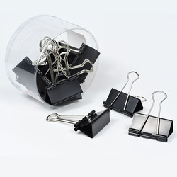 6351BMetal Binder Clips Black Clips 12Pcs Home Office Books File Paper Clip Food Clips Strong clamping force Easy classification