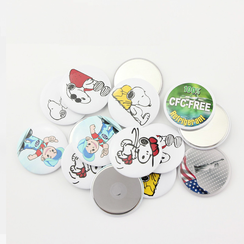 Magnetic Fridge Blank Pin Badge Material Supplies 44/58MM Button Maker Punch Press Machine Making Parts 50pcs