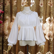 Chiffon Tops Fashion Sexy Casual Woman Clothes White Shirt Lace Blouse Tunic Har