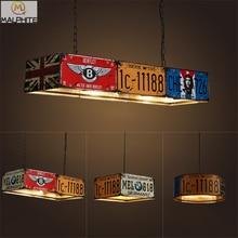 Retro led pendant lights restaurant bar plate industrial wind LED pendant lamps Net coffee shop Cafe Iron lighting fixtures
