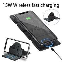 15W Qi Auto Drahtlose Ladegerät Schnelle Wireless Charging Pad Für iPhone 11 Pro Xs Max 8 Samsung Hinweis 9 s10 S9 S8 S7 Für Huawei Xiaomi