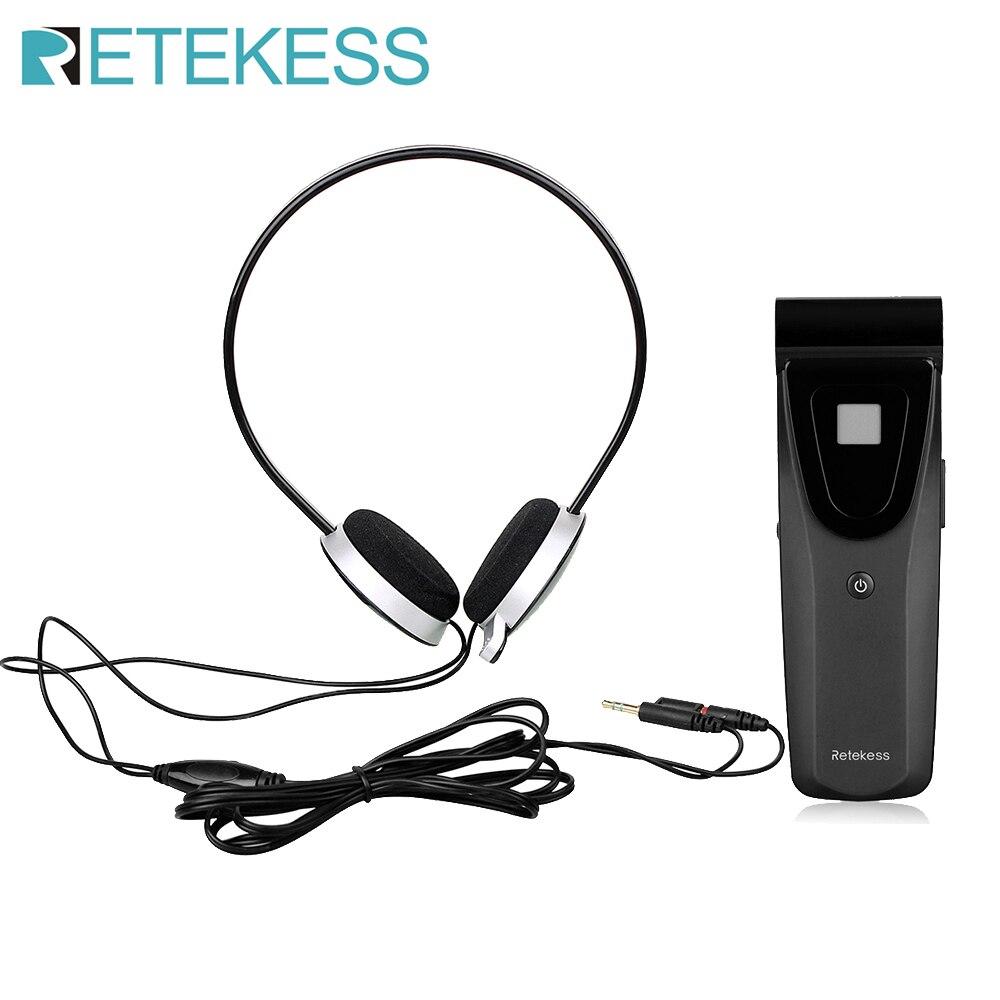 Retekess t121 16 canais receptor infravermelho sem ruído unidade para sistema de conferência de emissão sem fio infravermelho digital f9409-0