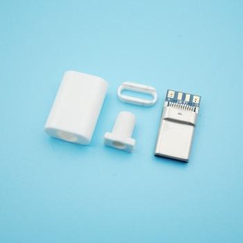 50pcs/Lot Welding Type C 2.0 usb Data Power Plug OTG Conector for DIY Repairing