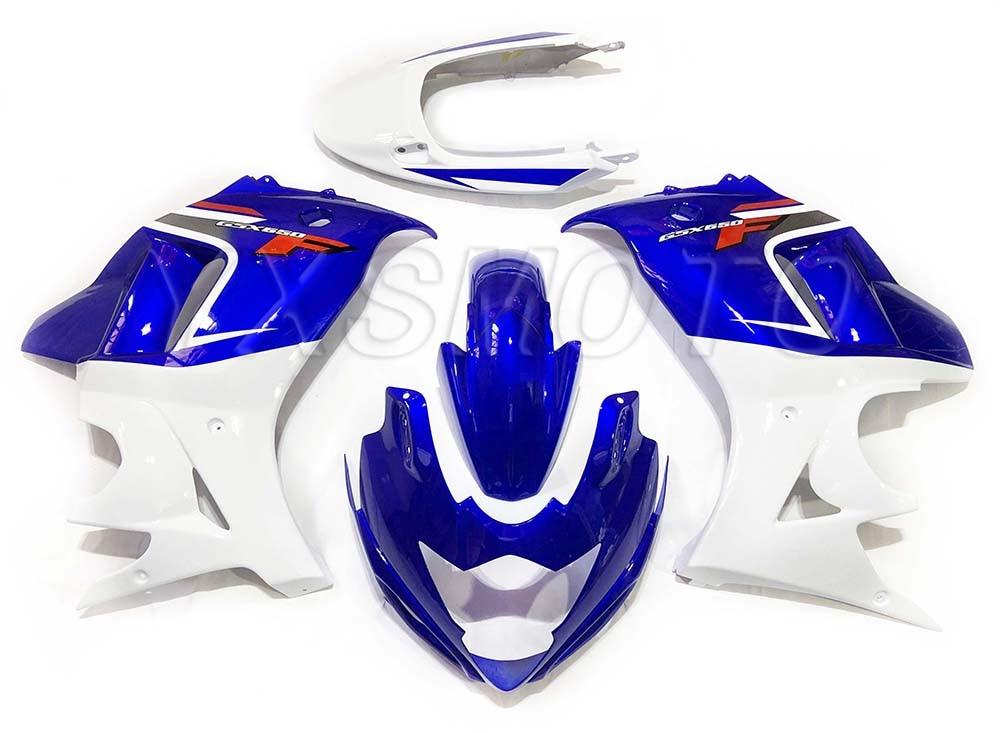 Brand New Mechanical Injection Fairing Kit For Suzuki GSX650F 2008-2013 Blue White Bodywork Fairings Gsx 650f 08 09 10 11 12 13