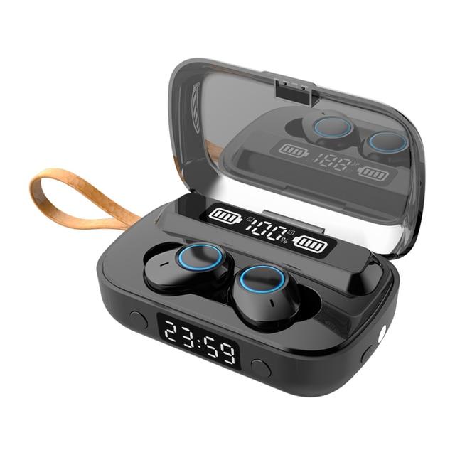 Фото tws 2000mah зарядный чехол ipx7 водонепроницаемый bluetooth цена