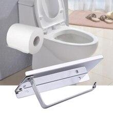 Toilet Paper Holder with Storage Shelf Bathroom Roll Tissue Rack Stainless Steel new