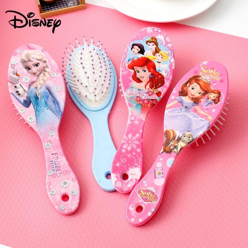 Peigne coussin d'air enfant | Personnage de dessin animé Disney, glace romance, peigne de massage mignon, peigne de cheveux mode maison