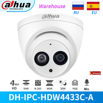 Dahua IP Camera 4MP IPC-HDW4433C-A Built-in MiC PoE IR Mini Dome Motion Detection ONVIF For Home&Office CCTV Security - discount item  31% OFF Video Surveillance