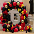 208pcs DIY Red Black Latex Balloons Garland Arch Kit Cartoon Series Party Balloons Theme Birthday Party Decor Supply Globos