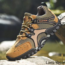 Men Hiking Shoes Anti-Slip Outdoor Climbing Trekking Shoe Military Tactical Boots Travel Backpacking Hunting Jungle Male Sneaker