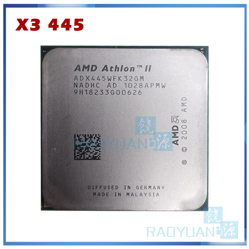 AMD Athlon II X3 445 3.1 GHz Triple Core CPU Processor X3 445 ADX445WFK32GM Socket AM3 938pin|CPUs|Computer & Office - title=