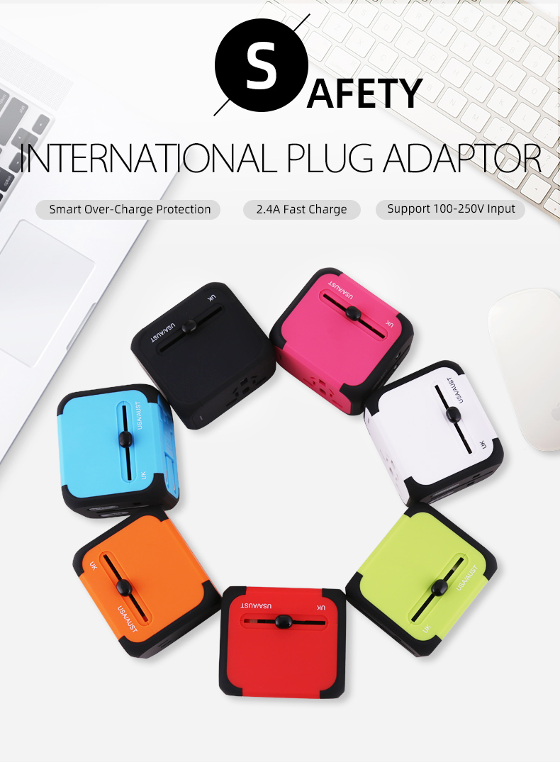 Cellphone Charger Universal phone Travel USB Power Adapter For UK EU US AU Fast Quick Charge 2.0 5V For iPhone Samsung Huawei