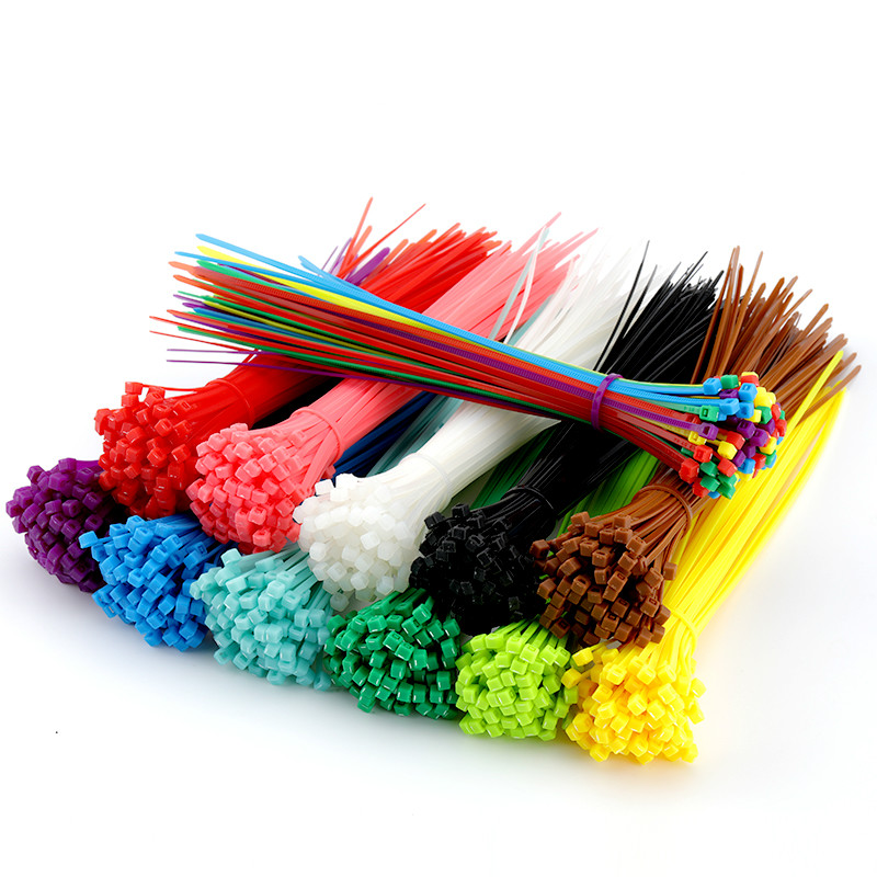 Car with 200mm self-locking nylon cable tie 8 inch 100 pieces 12 color plastic 18 pounds black winding wire Finishing