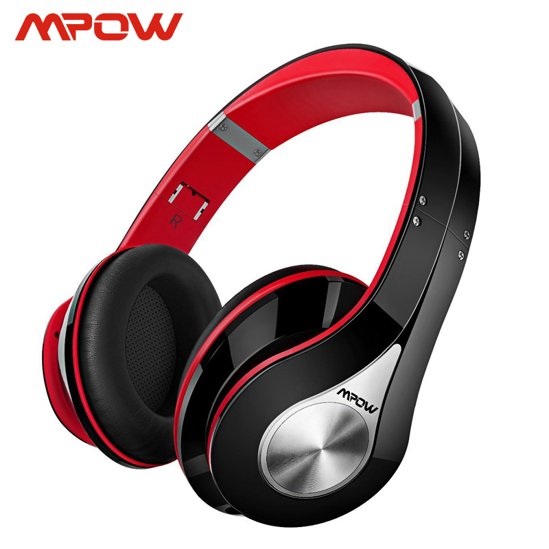 Mpow Best 059 słuchawki bezprzewodowe Bluetooth 4.0 słuchawki wbudowany mikrofon miękkie nauszniki zestaw słuchawkowy Stereo z redukcją szumów dla telefonów