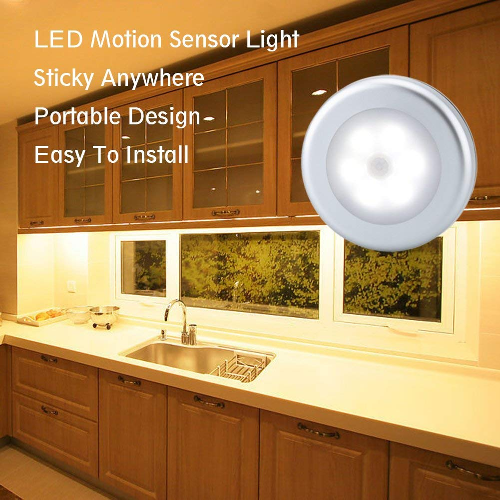 LED Night Light Super Bright LED Motion Sensor Lights Magnetic Wireless Detector Light Infrared Wall Lamp Cabinet Stairs Light