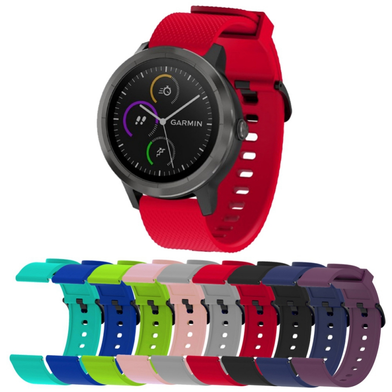 Smart Watch Band Soft Silicone Strap For Garmin Vivoactive 3 /trainer/HR/MUSIC/Forerunner 645 Sports Bracelet