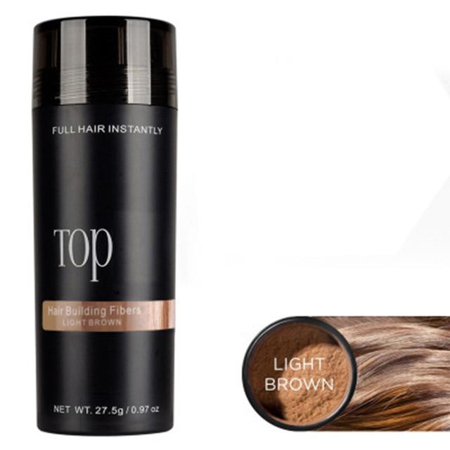 Fibra da perda de cabelo 27.5g fibras do cabelo reenchimento em pó perda de cabelo construção hairline optimizer denso crescimento do cabelo autêntico queratina