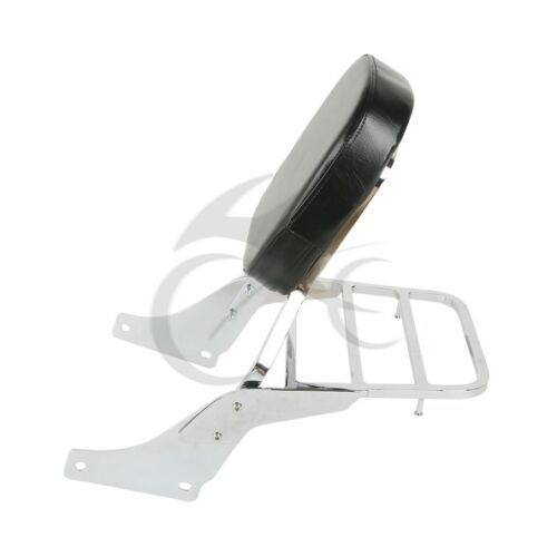 Motorcycle Detachable Backrest Sissy Bar Luggage Rack For Honda Shadow SABRE 1100 All Years
