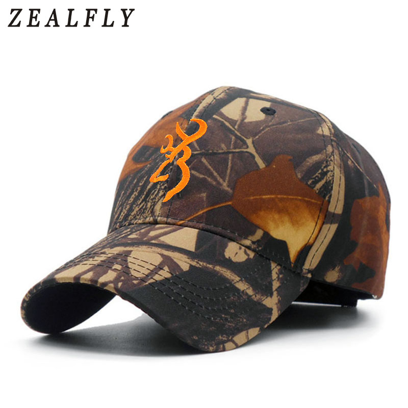 Camo Browning Baseball Cap Men Outdoor Sports Hunting Dad Hats Camouflage Jungle Fishing Caps Tactical Casquette