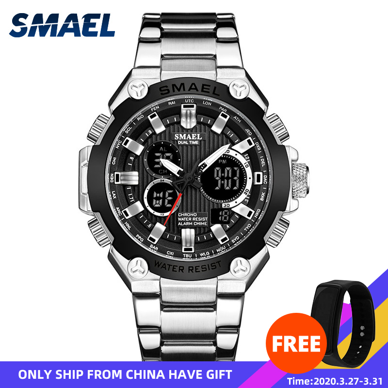 Quartz Watches Men Luxury Brand SMAEL Watch Men Mechanical Mens Automatic Army Watches1363 Waterproof Calendar Quartz Wristwatch