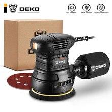 Deko dksd125j1 350w lixadeira de órbita aleatória com pó híbrido canister e poeira de escape ferramentas elétricas