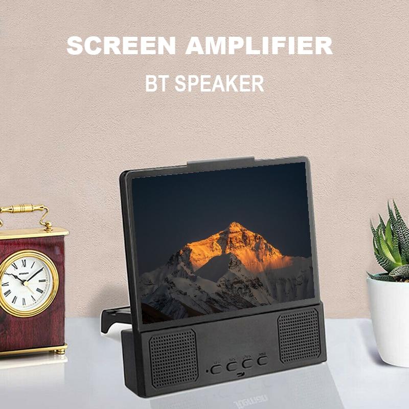 Portable Video Enlarge Bracket Speaker Smartphone Screen Magnifier Amplifier Universal Stand Holder For Mobile Cell Phone