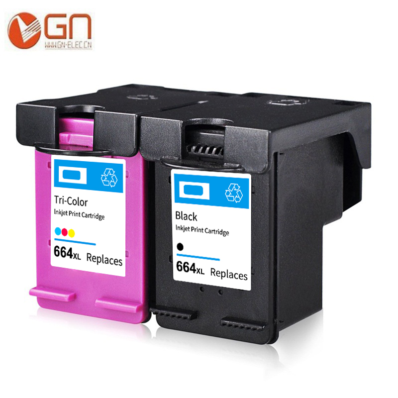 GN 664XL Ink Cartridge Replacement For HP664XL 664 For HP DeskJet 1115 2135 3635 1118 2138 3636 3638 4536 4676 Printer