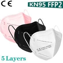 5-200 pcs FFP2 Face mask KN95 Mouth Mask fp2 PM2.5 95% filter Mouth mask dust EU standards black pink white gray Send fast