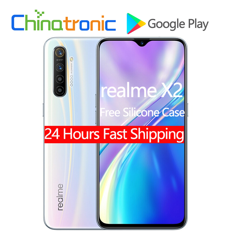 """Original realme X2 X 2 6GB 64GB 4G FDD LTE Mobile Phone 6.4""""FHD+ Snapdragon 730G Octa Core 64MP VOOC 30W Fast Charger NFC Cellphones  - AliExpress"""