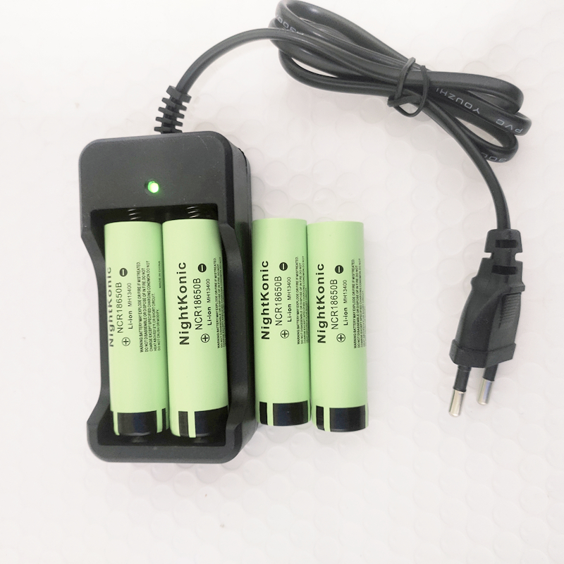 6 Pieces Nightkonic New Original NCR18650B 3. 7v 3200 mah 18650 Lithium Rechargeable Battery For Flashlight battery  Flat top