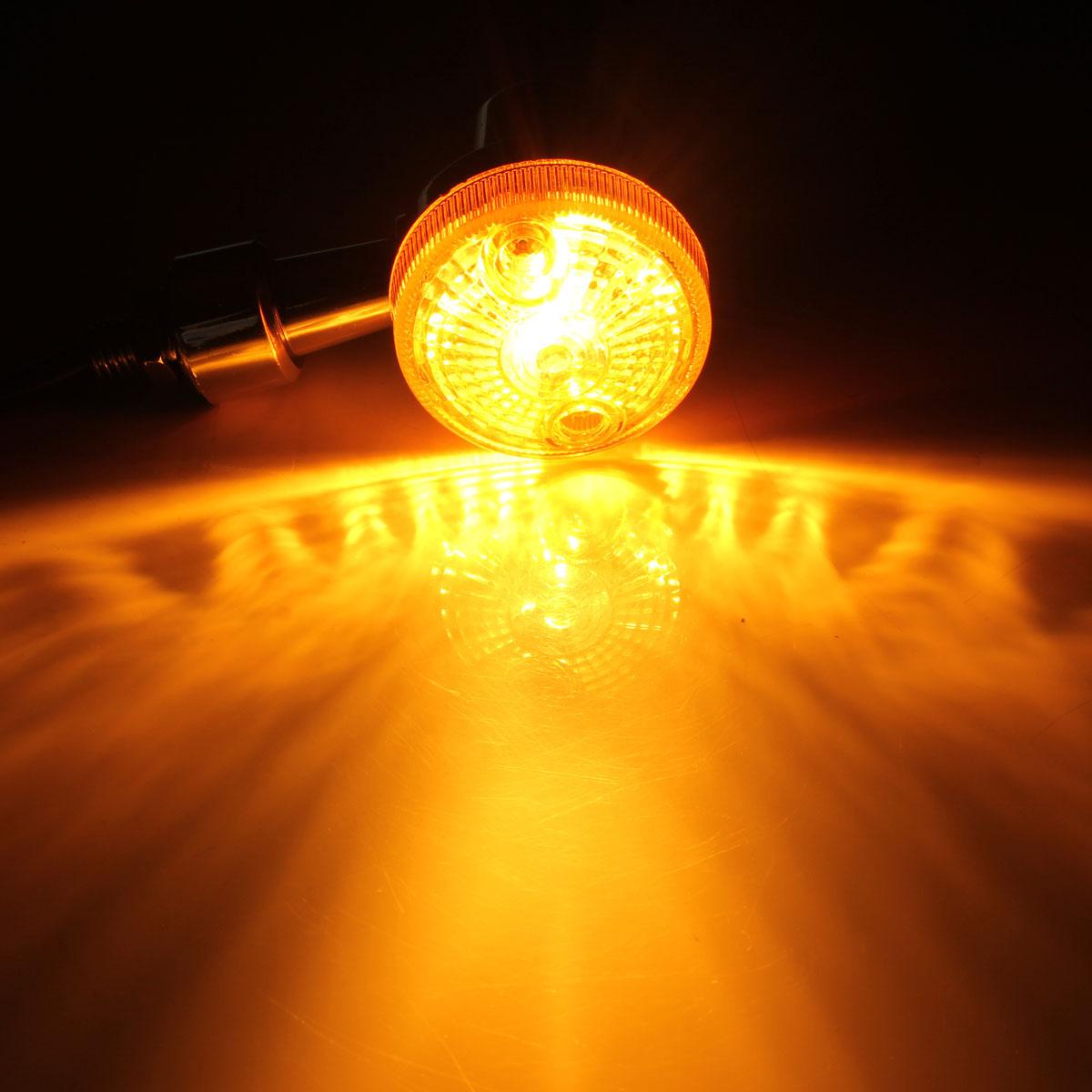 cheapest 2 4pc 12V Universal Motorcycle Motorbike Turn Signal Light Lamp Indicatior Lamp Amber Bulb