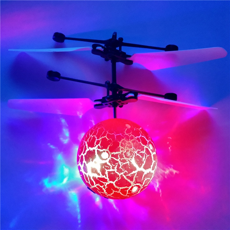 lowest price 2Pcs Infrared Induction Drone Flying Flash LED Lighting Ball Helicopter Child Kid Toy Gesture-Sensing No Need to Use Remote Cont