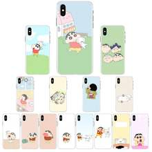 Cartoon Japan Anime Crayon Shinchan Diy Luxe Telefoon Case Voor Iphone 11 Pro Xs Max 8 7 6 6S plus X 5 5S Se Xr Cover(China)