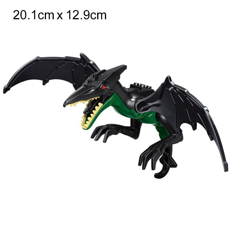 NEW 2020 Jurassic Building Blocks Dinosaur Tyrannosaurus Pterosaur Figures Bricks compatible Tyrannosaurus Assemble Kids Toys 4
