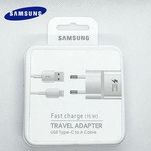 محول شاحن سريع قابل للتكيف ، كابل بيانات ، Samsung 15W AFC USB 3.0 من النوع C ، لهاتف Galaxy S8 S9 S10 Note 8 9 10 A30 A50 A70 A90 A80