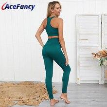 2 piece Set Yoga Tank Top Seamless Leggings Women's Sports Suit Gym Set Women ZC2146 Gym Clothing Sport Clothes Women Activewear