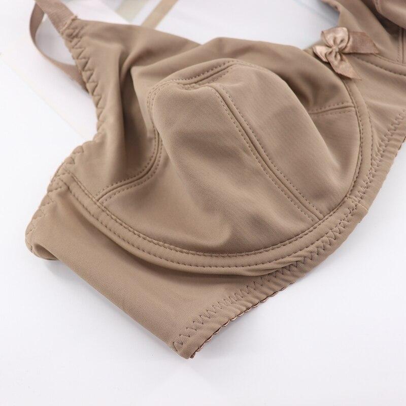 Beauwear Women Underwire Plus Size Bras Full Coverage Non Padded Brassiere Minimizer Underwear 36-48 B C D E Color Black Nude BH