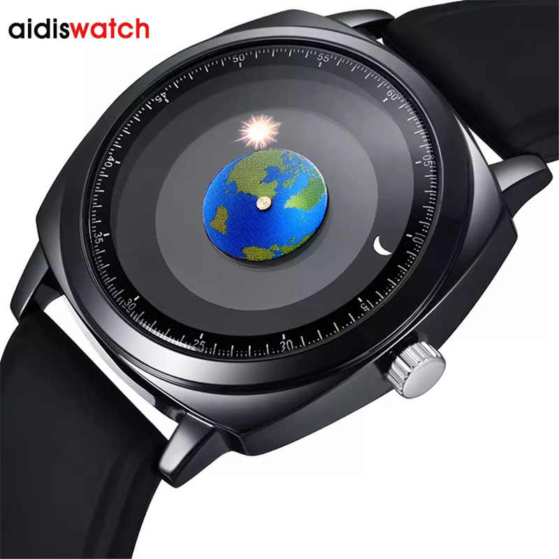 Addies Creative Personality Concept Watch Men Women Silicone 50m Waterproof Swim Sport Quartz Watch Top Brand Relogio Masculino