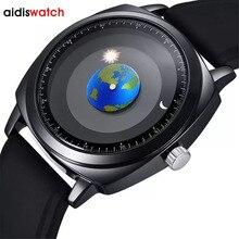 Addies osobowość twórcza koncepcja zegarek mężczyźni kobiety silikon 50m wodoodporny pływać Sport zegarek kwarcowy Top marka Relogio Masculino